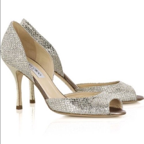 5a37e3d1a9 Jimmy Choo Shoes - Authentic Jimmy Choo Logan Champagne glitter pump