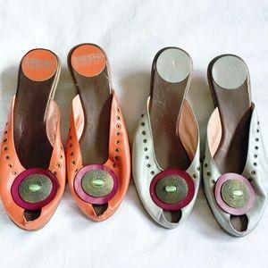 Set of 2~ retro kitten heels