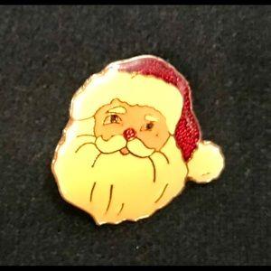 Jewelry - Vintage Santa Pin