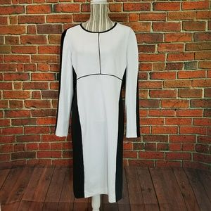 Narcisco Rodriquez black & white pencil dress