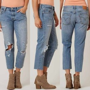 Levi's 501CT Tapered Leg Cropped 25