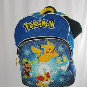 POKEMON Nintendo Backpack 2 Zipper Pockets Nice!