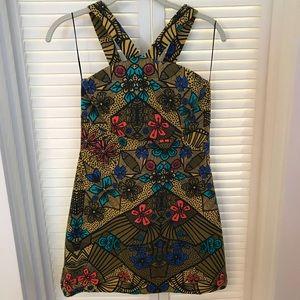 Zara floral mini dress