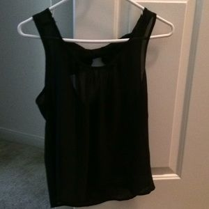 """NEVER WORN Black """"out on the town"""" top"""