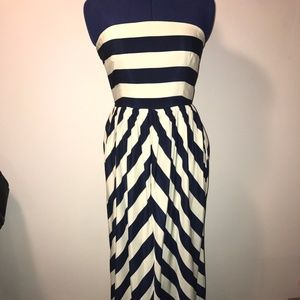 Ya Los Angeles Cabana Stripe Maxi Dress EUC