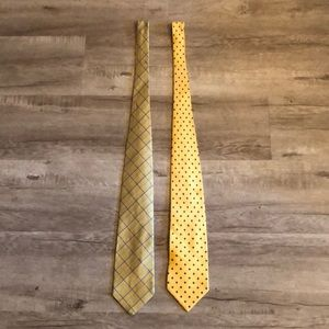 Brooks Brothers 2 Yelllow Ties