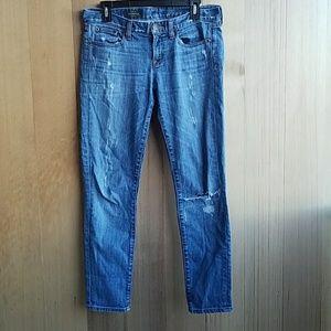 J.crew distressed toothpick skinny jean