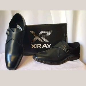 XRay Solo Monk Strap Black Leather Shoes Size 8