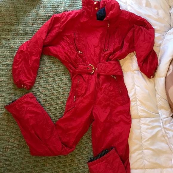 bf3ed3be86 Bogner Jackets   Blazers - Vintage Bogner Ski Jumpsuit Red