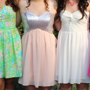 Dresses & Skirts - baby pink prom dress