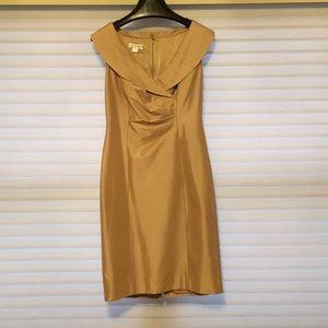 Kay Unger New York satin cocktail dress
