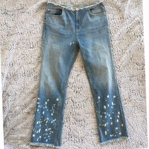 [Free People] Cut Distressed Ankle Jeans