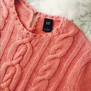 GAP Pink Cable Knit Sweater
