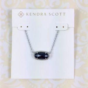 Kendra Scott Elisa Black &Silver Pendant Necklace