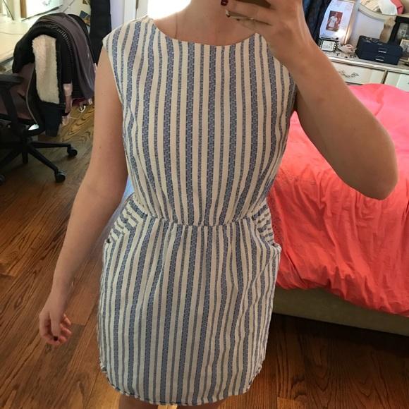 Merona Dresses & Skirts - Blue and white striped dress