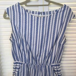 Merona Dresses - Blue and white striped dress