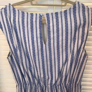 Merona Dresses - Blue and white striped dress