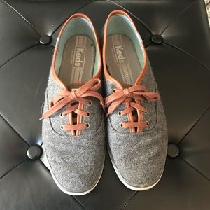 [Keds] Gray and Brown Sneakers