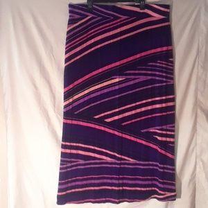 A.N.A Long stripe stretch skirt