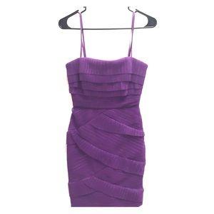 "Purple ""Jorie"" BCBG Strapless Optional Dress -2"