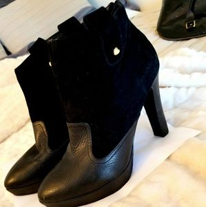 Moschino Ankle Leather Boots