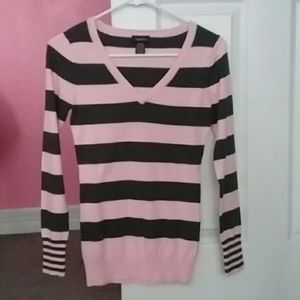 Rue 21 striped fitted sweater