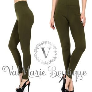 FLEEVE OLIVE LEGGING