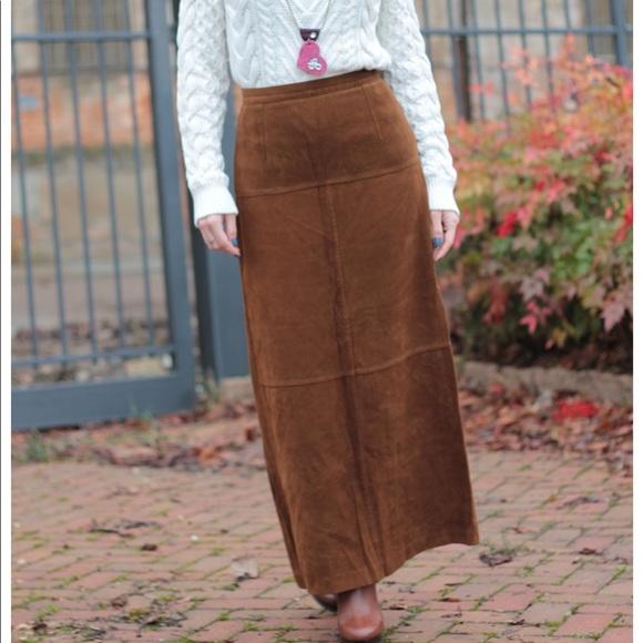 1e4b94c790c479 Pendleton Skirts   Suede Long Skirt   Poshmark