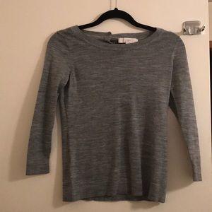 Loft sweater gray small petite