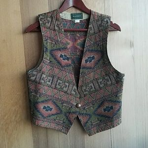 Vintage tribal desert aztec vest