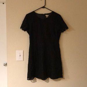 J Crew Little Black Lace Dress