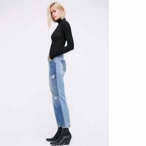 SALE NWOT Free People The Patchwork skinny jean