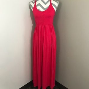 {S} Bright Pink Maxi Dress - Cynthia Rowley