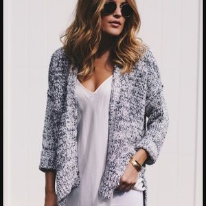 [Lou & Grey] Speckled Open Cardigan
