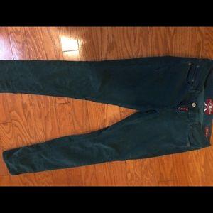Green Lucky Brand corduroy pants