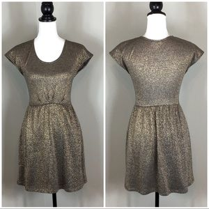 Everly Gold Shimmer Dress