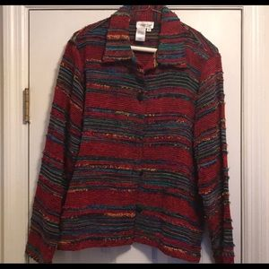 Coldwater Creek multi-colored jacket