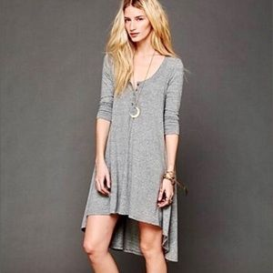 "Free People ""We The Free"" Jersey Drippy Dress XS"