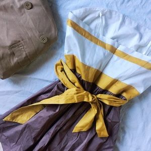 💛 BCBG Paris Cabana Strapless Dress