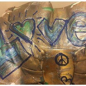 Ferragamo the Beatles hand painted 'Love me do'