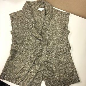 Belted Sweater Vest
