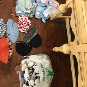 Other - Collection of boys hats, bibs and probably 90 sock