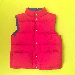 Kids Reversible Polo Puffer Vest