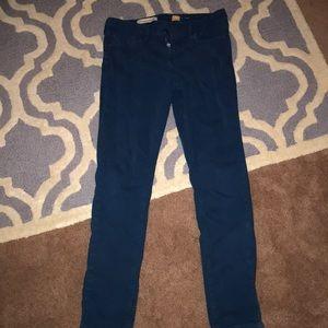 Pilcro dark turquoise jeans
