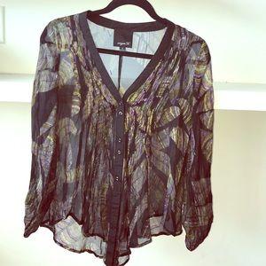 Aryn k silk blouse