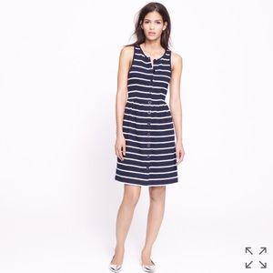J Crew button front stripe dress