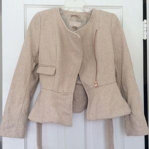 H&M peplum coat