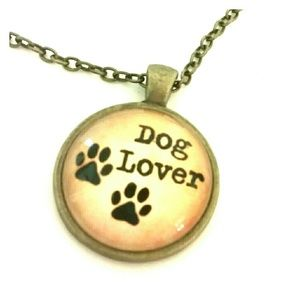 Dog Lover Necklace Rescue Dog Pet Lover Gift