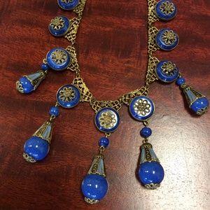 Vintage Jewelry - Czechoslovakian 1930 Stone Necklace