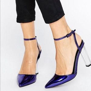 ASOS Paolo Clear Pointed Heels